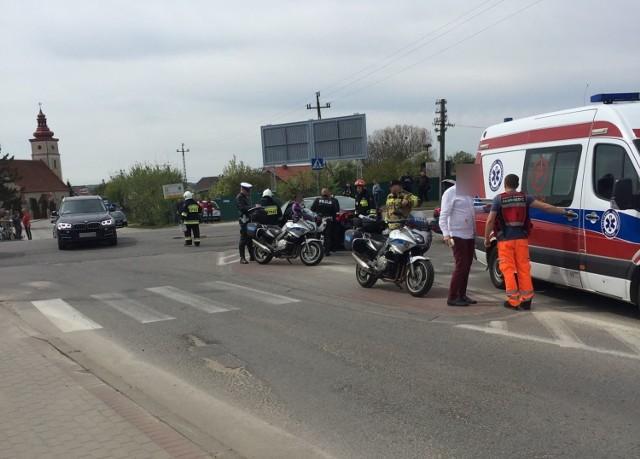 Wypadek w Łebczu (1.05.2019)