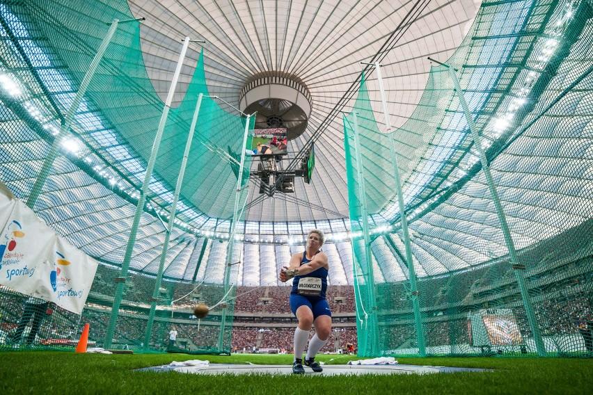 Anita Włodarczyk pobiła na stadionie PGE Narodowym własny rekord świata - 82,98 m.