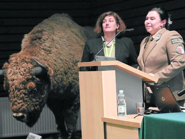 Celem projektu jest aktualizacja i uspójnienie wiedzy na temat stanu zachowania zasobów przyrodniczych BPN. Mówiły o tym na konferencji Monika Rusztecka (z lewej) i Olimpia Pabian