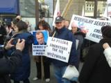 Wrocław: Protest emerytów. Zablokowali ul. Piłsudskiego (FILM, ZDJĘCIA)