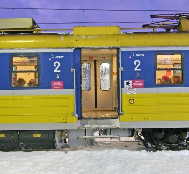 Pociąg SKM ze Słupska do Gdańska.