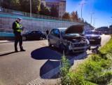 Białystok. Wypadki na Alei Niepodległości. Dwie kobiety trafiły do szpitala [ZDJĘCIA]