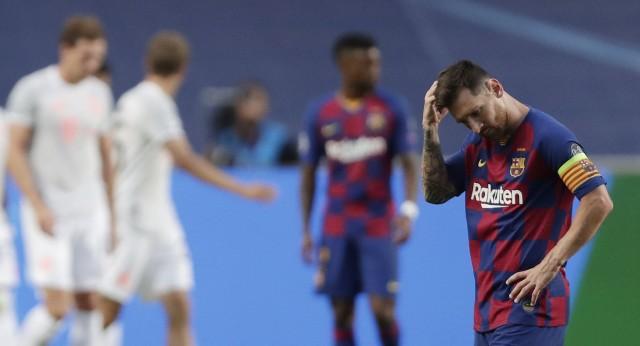 Decyzję o odejściu Messi podjął po kompromitującej porażce z Bayernem w Lidze Mistrzów
