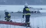 19 jeleni utopiło się w Ińsku w woj. zachodniopomorskim. Łowczy: to wina ludzi! Strażacy uratowali 13 zwierząt