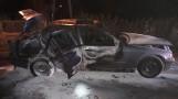 BMW spłonęło doszczętnie. Auto zapaliło się nocą, w środku byli pasażerowie