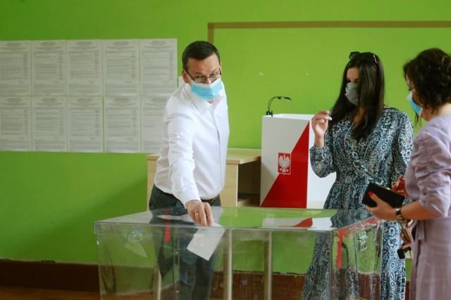 Premier Mateusz Morawiecki zagłosował w Warszawie