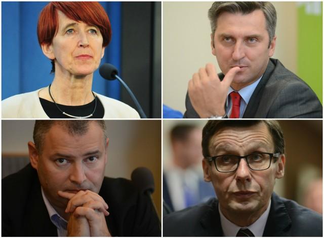 Elżbieta Rafalska, Waldemar Sługocki, Robert Dowhan i Marek Ast.