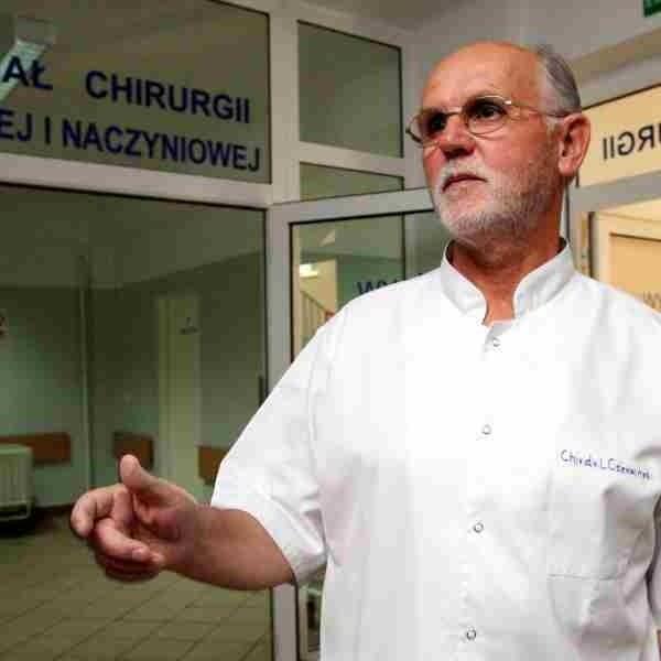 Leszek Czerwiński dyrektor szpitala miejskiego w Rzeszowie. - Są ordynatorzy, którzy niedopuszczają młodych specjalistów do operacji. To się powinno zmienić.