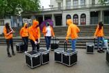 Pracownicy branży kosmetycznej chcą powrotu do pracy. Na placu Wolności zaprezentowano petycję do minister Jadwigi Emilewicz ZDJĘCIA