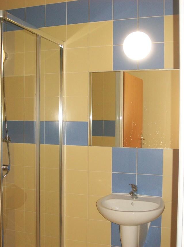 Wnętez łazienkiŁazienka z nakładającymi się strefami mokrymi