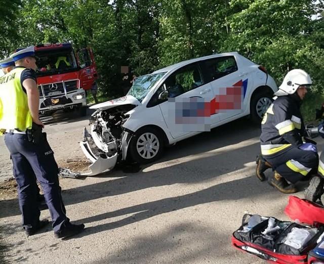 Po wypadku w Lubomi droga była zablokowana
