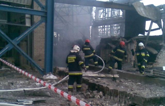 Ruiny budynku na terenie elektrowni.