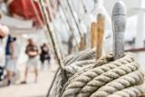 """Po dziesięciu latach """"Dar Młodzieży"""" znów zawinął do Gdańska. Gdańszczanie i turyści mogli za darmo zwiedzać statek szkoleniowy"""