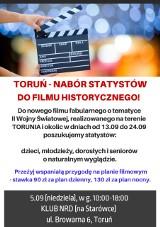 Chcecie wystąpić w filmie historycznym? Zgłoście się na casting w Toruniu. Nabór odbędzie się 5 września 2021 r.