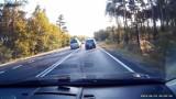 Pirat drogowy na drodze śmierci Zielona Góra – Nowogród Bobrzański mógł zabić ludzi. Sprawcy nie wykryto, ale mandat jest [WIDEO]