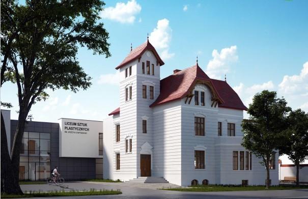 Urząd Miejski w Grudziądzu zaprezentował koncepcję zagospodarowania dawnej willi Victoriusa na potrzeby Liceum Plastycznego