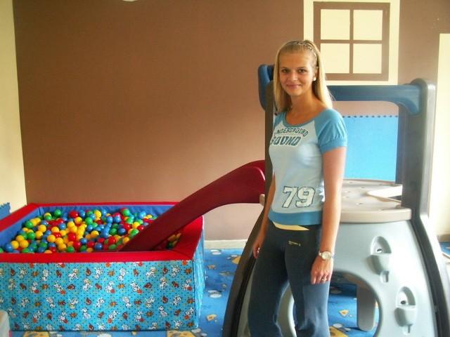 Karina Sekretarska, pracownik bawialni, w której odbędzie się wymiana zabawek