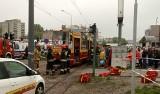 Wypadek tramwaju MPK. Na ul. Dolnej przy Zgierskiej tramwaj uderzył w słup. Zajmie się tym prokuratura! [FILM ZDJECIA]