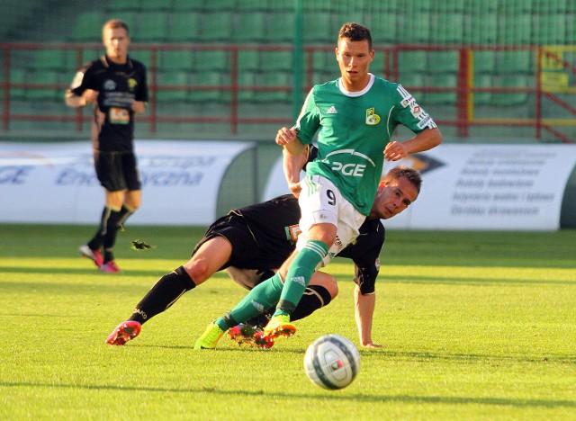 Michał Mak zdobył dwa gole w spotkaniu w Olsztynie i jest liderem klasyfikacji strzelców 1. ligi