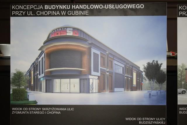 Wizualizacja galerii handlowej w Gubinie.