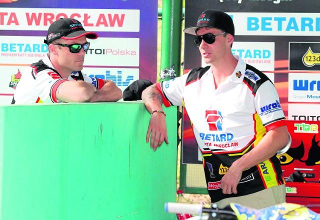 Peter Ljung (z lewej) i Troy Batchelor uzbierali 11 pkt. W sumie...