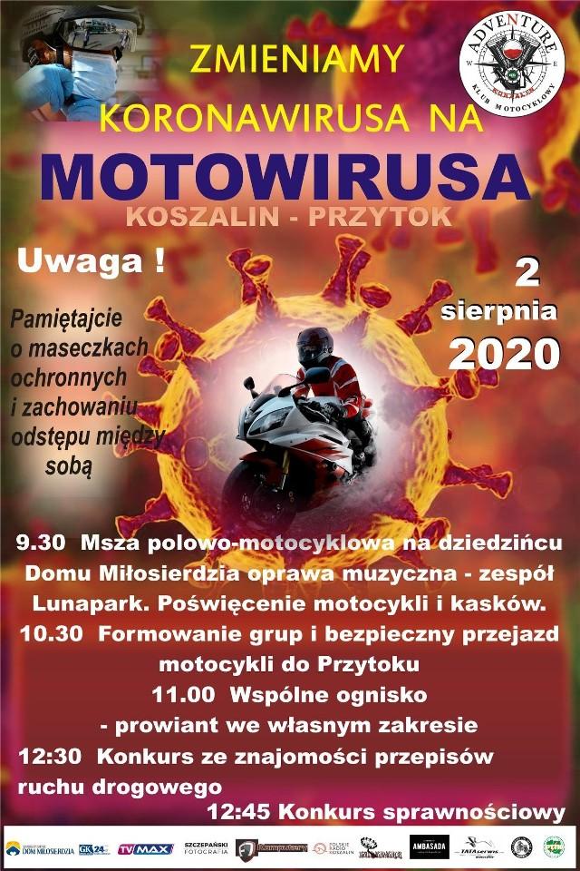 Wydarzenie organizuje Klub Motocyklowy Adventure.