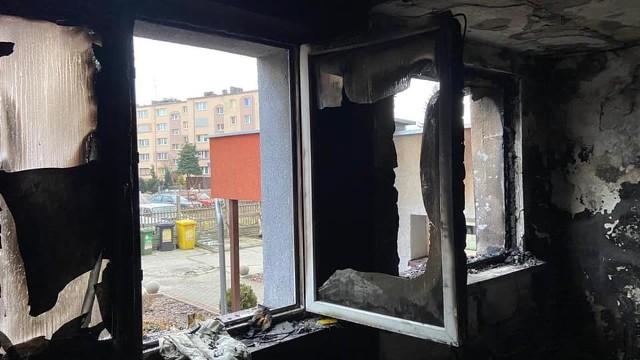 Mieszkanie spłonęło doszczętnie.