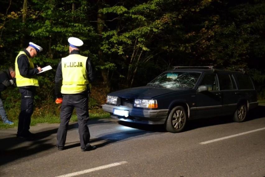 Śmiertelne potrącenie pieszego w Lesznie w powiecie kartuskim