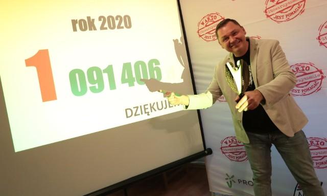 """Grzegorz Hryniewicz Prezes Stowarzyszenia """"Warto jest pomagać"""" dziękuję za ogromne wsparcie dla ponad 200 podopiecznych."""