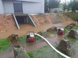 Po ulewnym deszczu woda zalała pomieszczenia podziemne nowego Muzeum Fortyfikacji i Nietoperzy w Pniewie