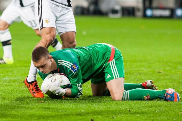 Dominik Hładun był bohaterem meczu w Grodzisku. Bronił niesamowicie i Zagłębie pokonało Wartę 2:0
