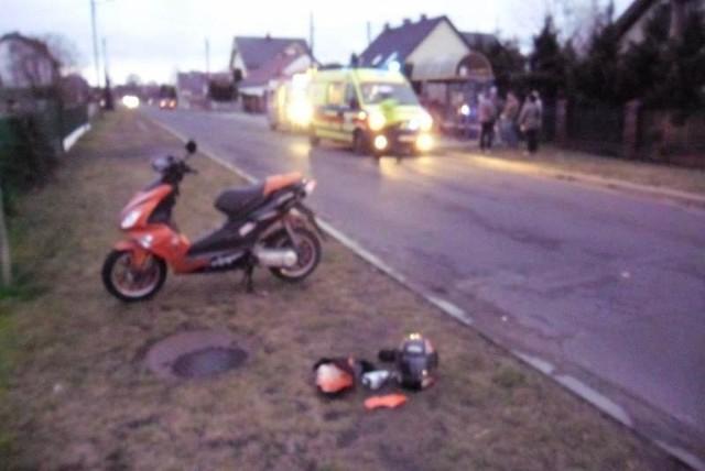 17-letni rowerzysta został ranny.