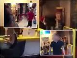 Skandaliczna bójka kibiców w centrum handlowym w Katowicach WIDEO + ZDJĘCIA Zareagowała tylko pracownica banku