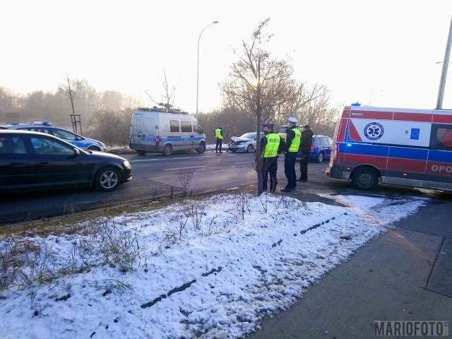 Wypadek na Wrocławskiej w Opolu.