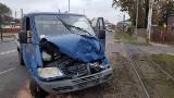 Wypadek w Zgierzu. Zderzenie tramwaju z samochodem. Ranni [ZDJĘCIA, FILM]