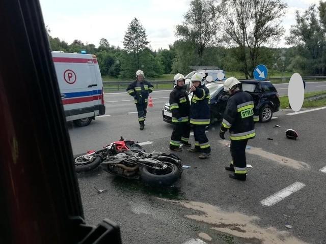 Wypadek w Głogoczowie