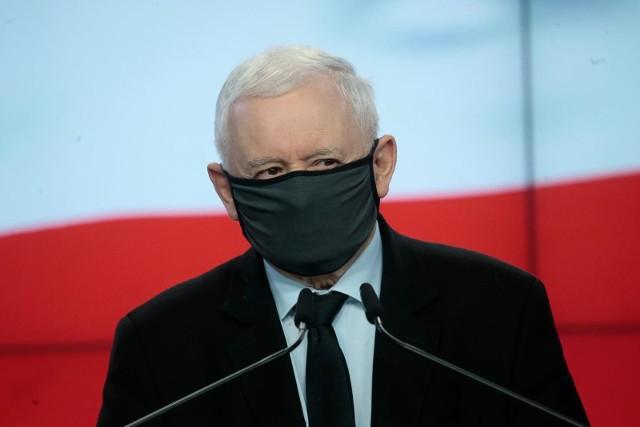 """Prezes Prawa i Sprawiedliwości Jarosław Kaczyński: Ataki na """"Polski Ład"""" z wnętrza Zjednoczonej Prawicy są szkodliwe"""