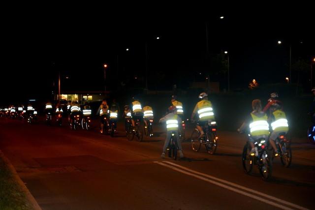 Nocny rajd rowerowy w Jastrzębiu-Zdroju