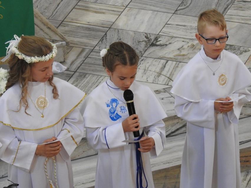 Pierwsza Komunia Święta w parafii pw. Nawrócenia Św. Pawła Apostoła w Małkini Górnej, 19.07.2020