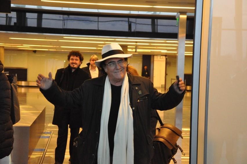 Al Bano wylądował we Wrocławiu. Jutro koncert (ZDJĘCIA Z LOTNISKA)