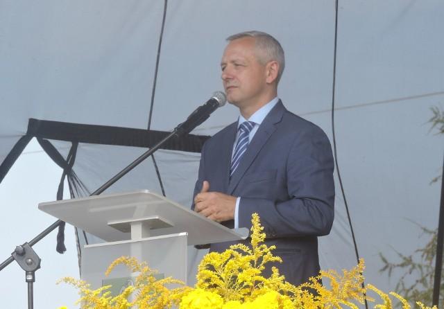 Minister Marek Zagórski na dożynkach w Bieli