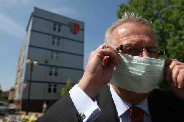 Andrzej Bielawski kupił maski za własne pieniądze