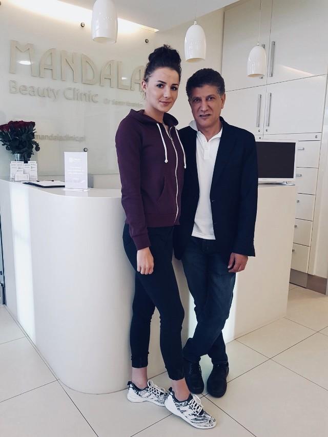 Samir Ibrahim ze swoją pacjentką i jednocześnie kolarką Mróz Jedynki Kórnik, Weroniką Humelt