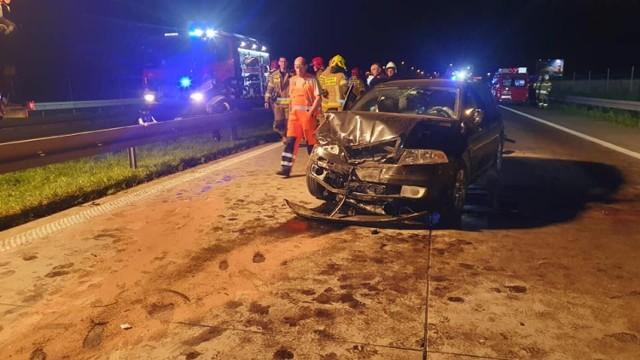 Wypadek na S8 koło Piotrkowa Trybunalskiego.