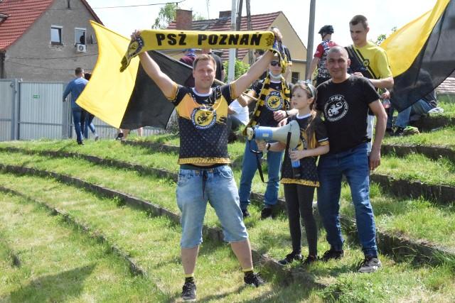 Tak kibice PSŻ Spechouse Poznań wspierali swoich ulubieńców na torze w Opolu