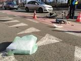 Groźny wypadek na Trzebnickiej. Potrącenie rowerzysty (ZDJĘCIA)