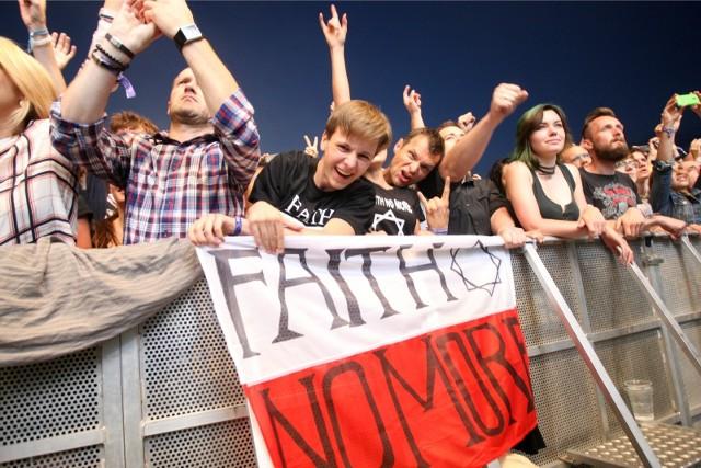 Publiczność na koncercie Faith No More podczas festiwalu Open'er 2014