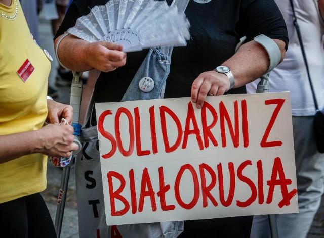 W Polsce odbywają się wiece przeciw aktom przemocy władzy na Białorusi po ostatnich wyborach prezydenckich.