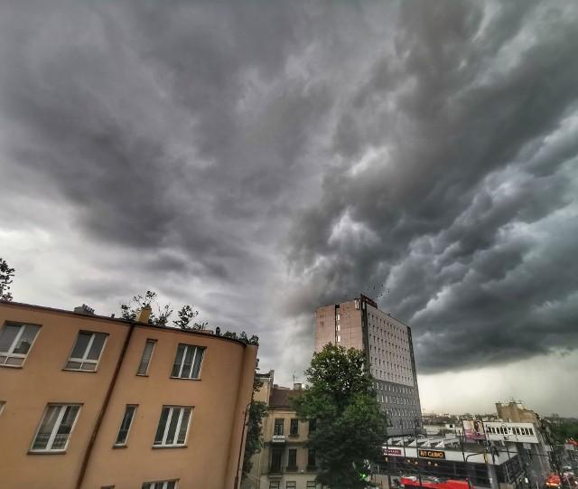 Burzowe niebo nad Lublinem