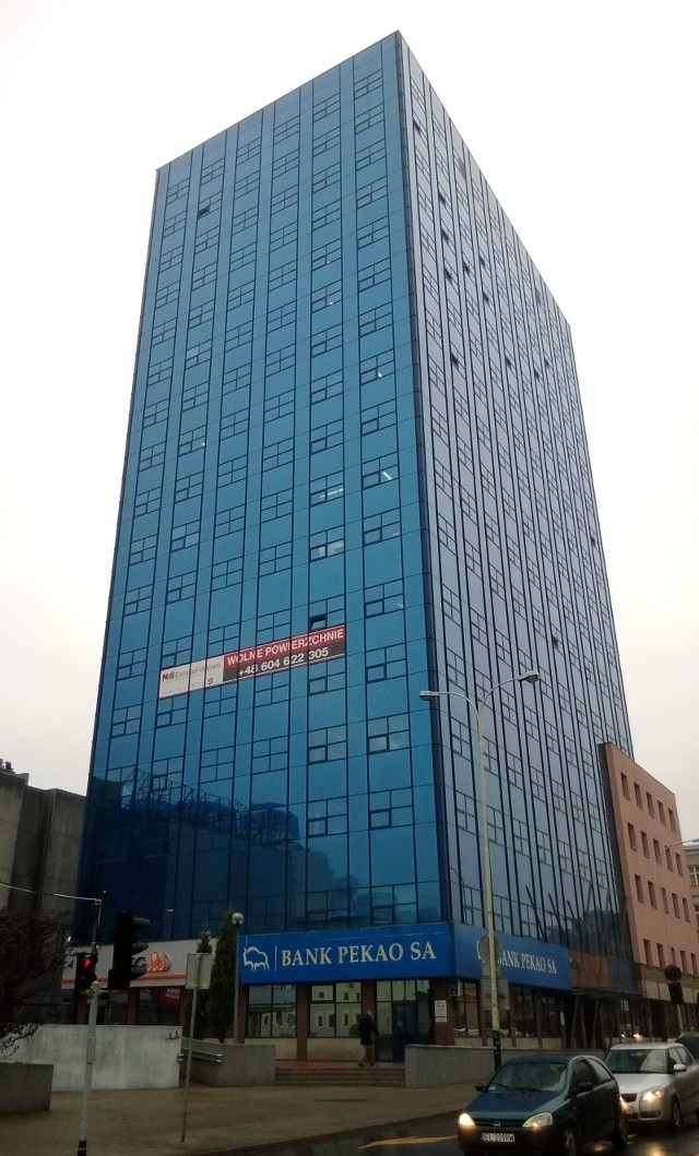 Biurowiec Orion przy ul. Sienkiewicza ma 17 pięter i 62 m wysokości.